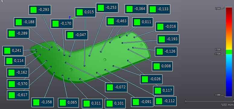 Controle dimensionnel sur cible Pirus composites
